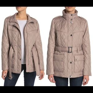 London Fog Belted Quilted Puffer 🐦